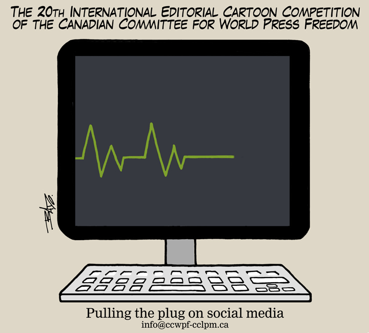 Call for submissions – 20th World Press Freedom international editorial cartoon competition