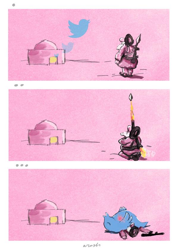 Arash Ekramifar of Iran is the Grand Prize winner in 20th International Editorial Cartoon Competition
